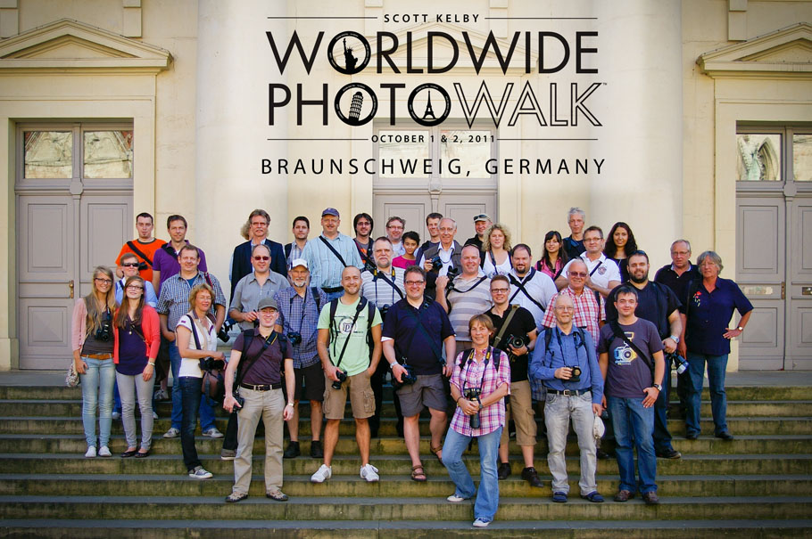 "Gruppenbild ""Worldwide Photo Walk"" in Braunschweig"