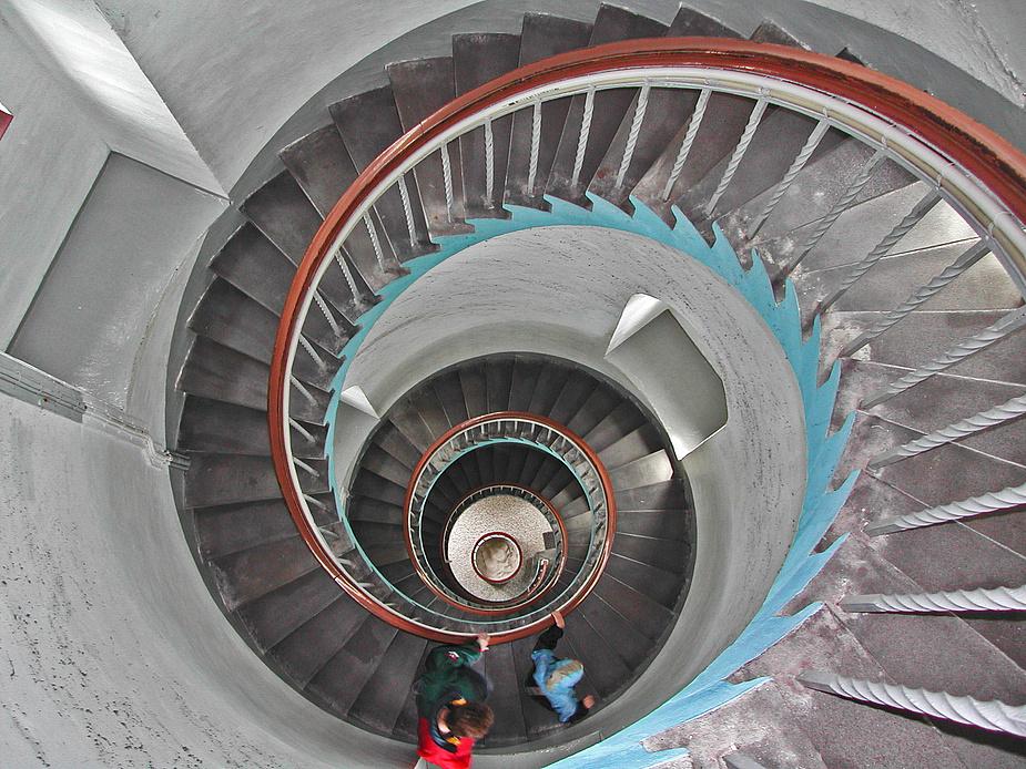 "Treppe des Leuchtturm ""Lyngvig Fyr"" Dänemark"