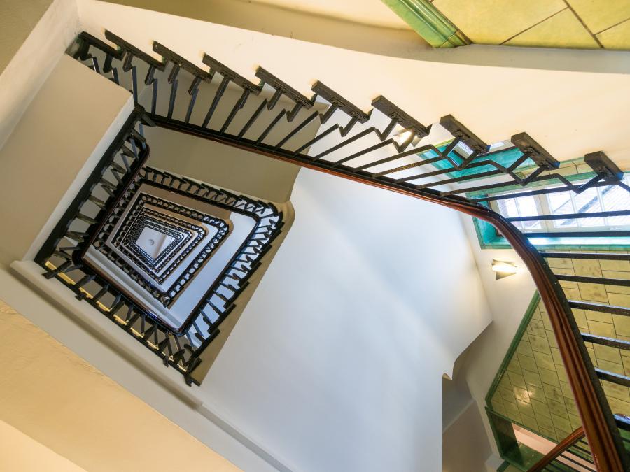 Treppenhaus im Chilehaus, Hamburg