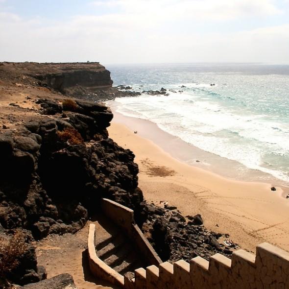 Treppe zum Strand auf Fuerteventura (alt 2008)
