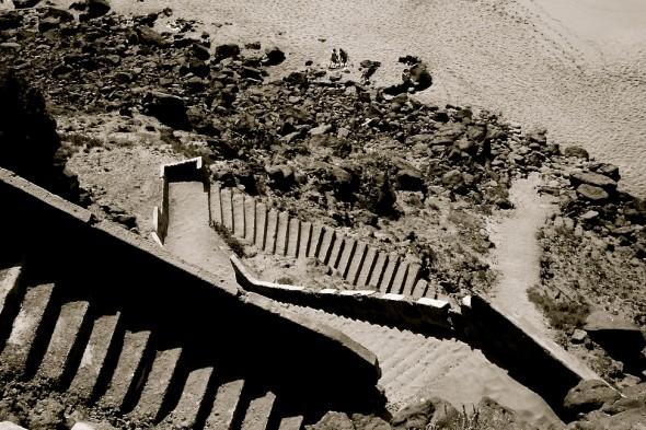 Treppe zum Strand von oben  (alt 2008)