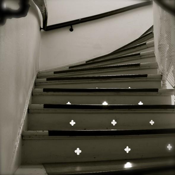 auch die Treppe in der Jasperallee