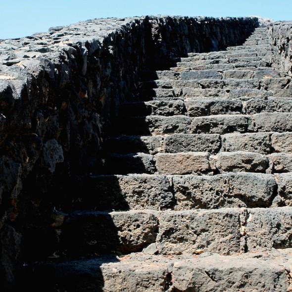 Lavasteintreppe auf Lanzarote (alt 2011)